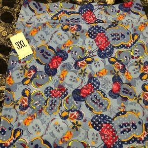 LulaRoe Disney Minnie Skirt size Cassie 3XL
